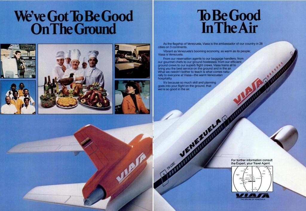 Brochure de Viasa en 1980